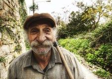 Trabajador del viejo hombre imágenes de archivo libres de regalías