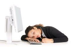Trabajador durmiente Fotos de archivo libres de regalías