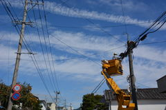 Trabajador eléctrico Imagen de archivo