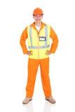 Trabajador eléctrico de sexo masculino imagenes de archivo