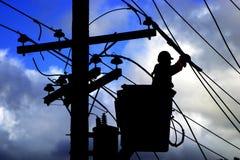 Trabajador eléctrico Foto de archivo