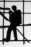 Trabajador en bambú Fotografía de archivo libre de regalías