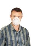 Trabajador en respirador Fotos de archivo libres de regalías