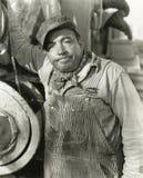 Trabajador enfadado Foto de archivo libre de regalías