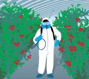 Trabajador hidropónico libre illustration