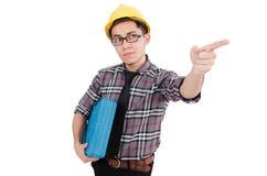 Trabajador industrial aislado Imagen de archivo libre de regalías