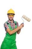Trabajador industrial aislado Imágenes de archivo libres de regalías