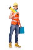 Trabajador industrial aislado Foto de archivo libre de regalías