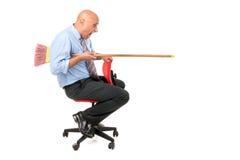Trabajador jousting Foto de archivo libre de regalías