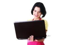 Trabajador moderno del ama de casa o de la hembra Imagenes de archivo