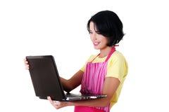 Trabajador moderno del ama de casa o de la hembra Imagen de archivo libre de regalías