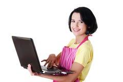 Trabajador moderno del ama de casa o de la hembra Fotos de archivo
