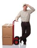 Trabajador sonriente Imagen de archivo libre de regalías