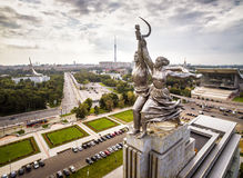 Trabajador soviético famoso y granjero colectivo, Moscú del monumento Foto de archivo
