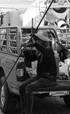 Trabajador tailandés Imágenes de archivo libres de regalías