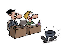 Trabajador a tiempo parcial ilustración del vector
