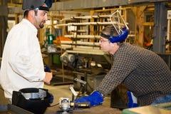 Trabajador y supervisor del metal Foto de archivo libre de regalías