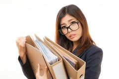 Trabajadora asiática Foto de archivo libre de regalías