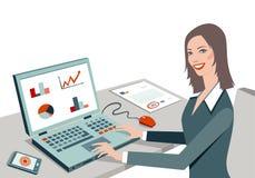 Trabajadoras stock de ilustración