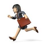 Trabajadoras que corren en active Fotos de archivo libres de regalías