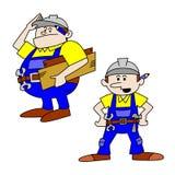 Trabajadores/artesanos gordos y finos Foto de archivo libre de regalías