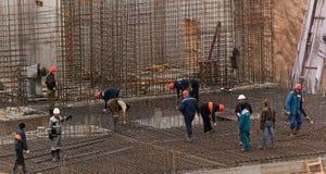 Trabajadores con los marcos del forwork Foto de archivo libre de regalías