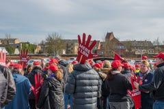 Trabajadores daneses del gobierno que protestan para mejores condiciones de trabajo Fotografía de archivo