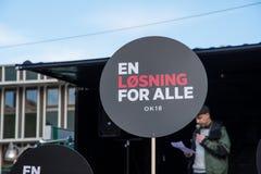 Trabajadores daneses del gobierno que protestan para mejores condiciones de trabajo Fotografía de archivo libre de regalías