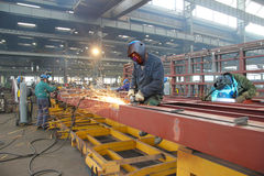 Trabajadores de acero Fotos de archivo libres de regalías