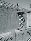 Trabajadores de collar azul Fotos de archivo