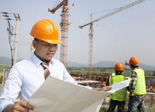 Trabajadores de construcción Imagenes de archivo