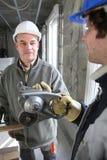 Trabajadores de construcción Imagen de archivo libre de regalías