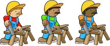 Trabajadores de construcción Fotografía de archivo libre de regalías