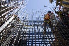 Trabajadores de construcción Imágenes de archivo libres de regalías