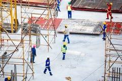 Trabajadores de construcción Fotografía de archivo