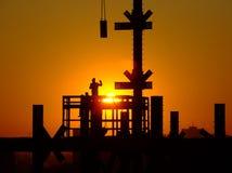 Trabajadores de construcción Imagen de archivo