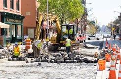 Trabajadores de construcción de carreteras Imagen de archivo