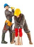 Trabajadores de construcción de sexo femenino Foto de archivo