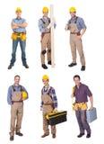 Trabajadores de construcción industriales imagenes de archivo