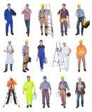 Trabajadores de construcción industriales Fotos de archivo libres de regalías
