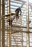 Trabajadores de construcción rumanos Fotos de archivo libres de regalías
