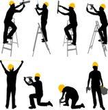 Trabajadores de construcción Foto de archivo libre de regalías