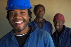 Trabajadores de construcción sonrientes Fotografía de archivo libre de regalías