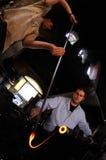 Trabajadores de cristal 023 del blowery Foto de archivo