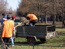 Trabajadores de la calle Imagen de archivo libre de regalías