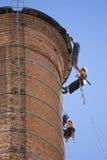 Trabajadores de la chimenea Imagen de archivo libre de regalías