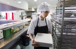 Trabajadores 013 de la cocina Fotografía de archivo