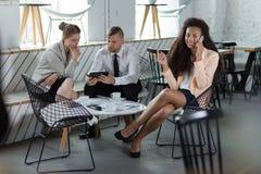 Trabajadores de la empresa de negocios Imagen de archivo