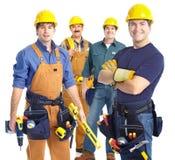Trabajadores de los contratistas Imagen de archivo