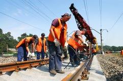 Trabajadores de Rairoad Foto de archivo